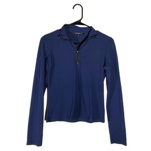 Theory Navy Blue Activewear 1/4 Zip Pullover M